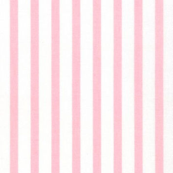 Baby Pink Stripe Fabric by the Yard   100% Cotton