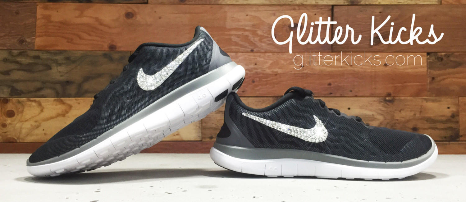 Women s Nike Free 4.0 Running Shoes By Glitter Kicks - Hand Customized With  Swarovski 2c7f3c156f