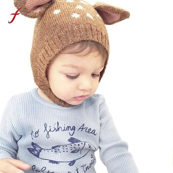 Baby Hat Kids Newborn Knitted Cap Crochet Solid Children Beanies Boys Girls Hats Headwear Toddler Caps Accessories