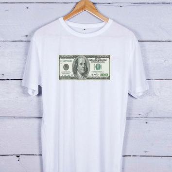Dollar Bill 100 Tshirt T-shirt Tees Tee Men Women Unisex Adults