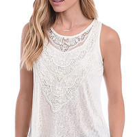 Looking For Lace Applique Tank Top