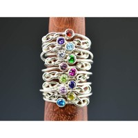 Infinity Mother's/Birthstone Ring