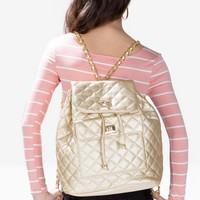 Quilted Chain Strap Backpack