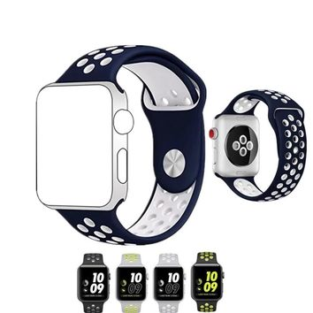 Sport Apple Watch Band 38mm/42mm Silicone for Series 3, Series 2, Series 1