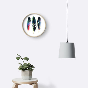 'Feathers' Clock by printapix