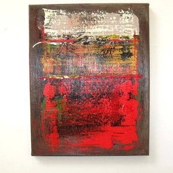 Red and Brown Original Abstract Painting, Acrylic on Canvas, Modern Home Decor, Art  Wall Decor