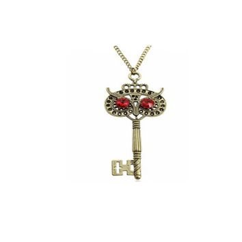 Owl key Long Sweater Chain Necklace