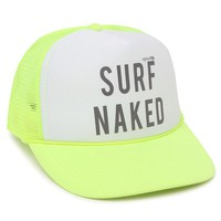 Rip Curl Surf Naked Trucker Hat - Womens Hat - Neon Yellow - One