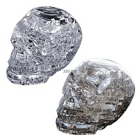 Crystal Puzzle with Flash Light Model Building Toy for Children Home Decoration Skull