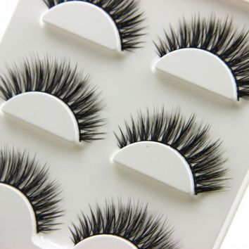 3 Pairs Natural Long 3D False Eyelashes Handmade Makeup Beauty Thick Fake Eye Lashes Extension Tools