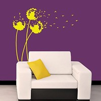 Wall Decals Dandelion Decal Vinyl Sticker Bathroom Kitchen Window Nursery Bedroom Room Home Decor Art Murals MN378