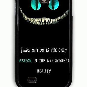 Samsung Galaxy S4 Case - Rubber (TPU) Cover with Alice in Wonderland we are all mad here Rubber Case Design