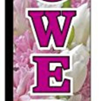 Flowers Windless Swooper Feather Banner Flag Sign