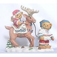 "Enesco Cherished Teddies Sven and Liv ""All Paths Lead to Kindness and Friendship"""