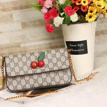 GUCCI counter new cute cherry mini chain bag two sets F-AGG-CZDL