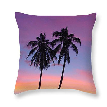 Beach Decor Pillow Palm Tree Decor - Tropical Decor Palm Tree Pillow Covers Beach Bedroom - Tropical Pillow Beach House Decor Photography