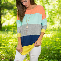 Color Block Party Top, Orange