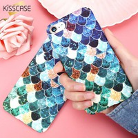 KISSCASE 3D Luminous Case For Apple iPhone 7 6s 7 Plus 5S SE Case Fish Scales Colorful Cover For Samsung Galaxy S8 S8 Plus S7 s6