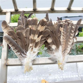 10pcs/lot Scarce natural real eagle feather for festival Events party hat dress cloth home decoration supplies 15-28cm/6-12inch