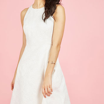 Elegant Evolution A-Line Dress in Ivory | Mod Retro Vintage Dresses | ModCloth.com