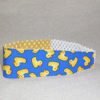 Adorable Rubber Duck Themed Fabric Headband
