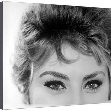 Close Up of the Eyes of Actress Sophia Loren Premium Photographic Print by Alfred Eisenstaedt at Art.com
