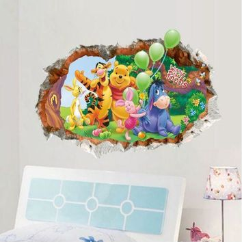 Winnie Pooh Wall Stickers Nursery kids baby Bedroom Vinyl Art Decal Decor