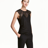 H&M Top with Lace $24.99