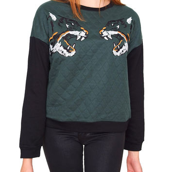 Crouching Tigers Sweatshirt - Hunter Green