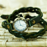 Handmade Braided Double-strap Twist Watch