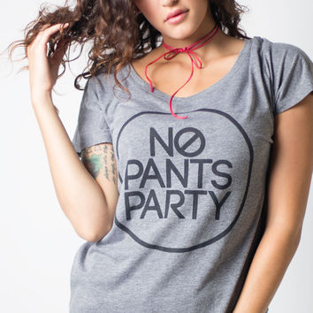 No Pants Party Slouch Tee