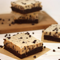 Cookie Dough Frosted Brownies