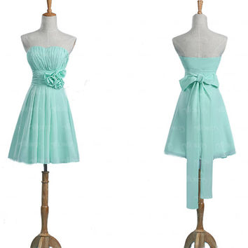 Mint bridesmaid dress, cute bridesmaid dress, short bridesmaid dresses, cheap bridesmaid dress, chiffon bridesmaid dress, bridesmaids dress