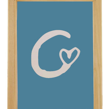 Letter C Silk Screen Print Frame, Silk Screen Printing Frame with Squeegee, DIY Hand Screen Printing Supply, Printing Supplies - 6 Sizes