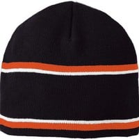 Holloway 223832?engager Beanie   Black Orange White