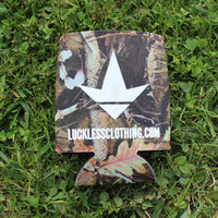 Luckless LLC | Lets Do Some Shots Koozie (Camo)