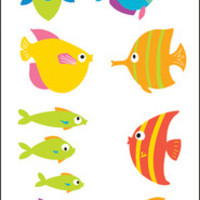 "Mrs. Grossman's Chubby Fish Stickers - 6.5"" x 2"""