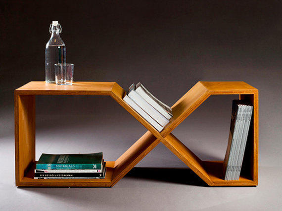 Plywood Bench Side Table by Nord