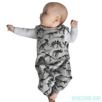 New Dinosaur pattern baby boys romper summer 2017 new baby romper jumpsuit kids boy clothes Drop ship