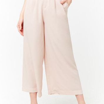 High-Rise Belted Palazzo Pants
