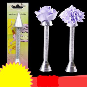 Aluminium Alloy Sticks Cone Holder Cake Piping Rod Icing Cream Flower Roses Cake Decoration tools Baking Pastry Tools