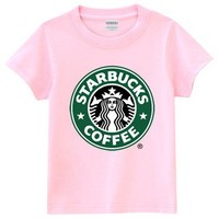 Pink Short-Sleeved Starbucks T-Shirt