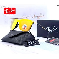 Ray-Ban 2019 new men and women models frameless large frame color film driving polarized sunglasses #3