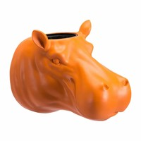Hippo Planter Orange