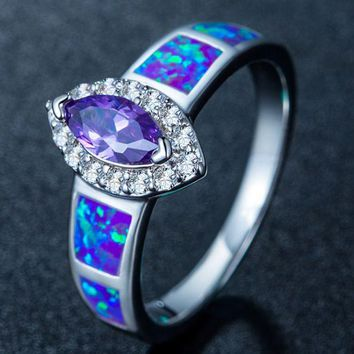 ONETOW UNIENO Opal ring fashion Opal opal jewelry Purple