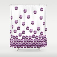 Purple Flowers Shower Curtain by Claude Gariepy