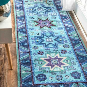NuLOOM Hand Tufted Tribal Dalila Rug Blue