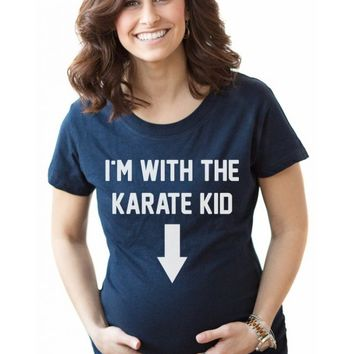 With The Karate Kid Maternity Shirt | Cool Maternity Shirt
