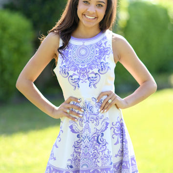 May Flowers Dress - Lavender