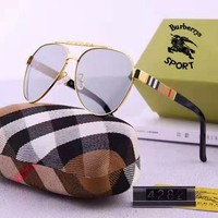 Burberry fashion casual lady polarizing lens large frame sunglasses